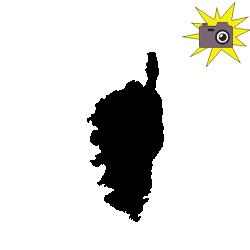 Pliage de livre carte de Corse