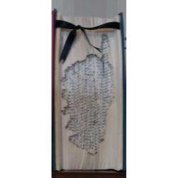 Corsica map folded book