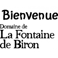 Fontaine de Biron text logo book folding