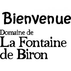 Fontaine de Biron text logo folded book