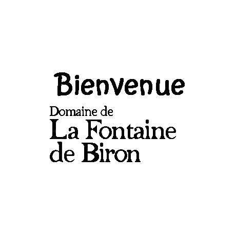 Pliage de livre logo texte Fontaine de Biron