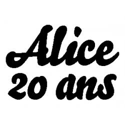 Pliage de livre Alice - 20 ans