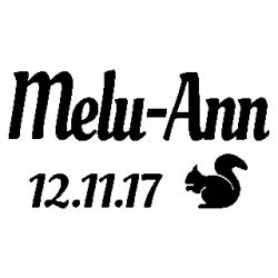 Pliage de livre Melu-Ann - date de naissance - décor écureuil