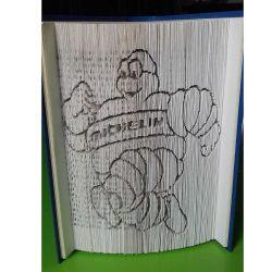 Pliage de livre Bibendum Michelin fonceur