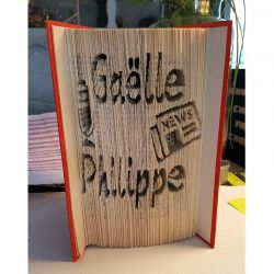 Gaëlle & Philippe folded book