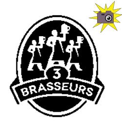 Pliage de livre logo restaurant 3 Brasseurs