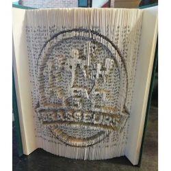 3 Brasseurs restaurant logo folded book