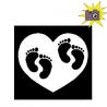 Pliage de livre pieds jumeaux dans coeur