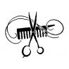 Pliage de livre ciseaux & peigne coiffeur
