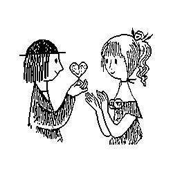Pliage de livre amoureux de Peynet