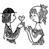 Lovers by Peynet folded book