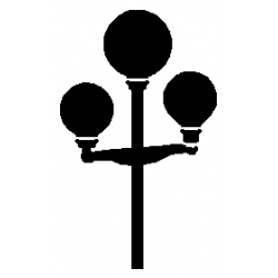 Pliage de livre lampadaire