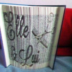 Pliage de livre Elle & Lui (2)
