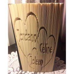 Pliage de livre famille Jordann Céline Joleen