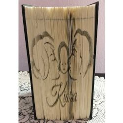 Pliage de livre naissance Kiara