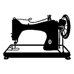 Pliage de livre machine à coudre vintage