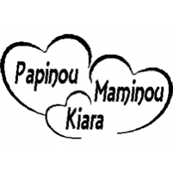 Papinou - Maminou - Kiara folded book