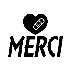 Merci - plater heart folded book