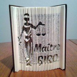 Maître BIRO - lawyer folded book