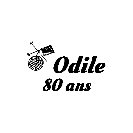 Pliage de livre Odile 80 ans - motif tricot