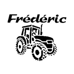 Frédéric + tractor folded book