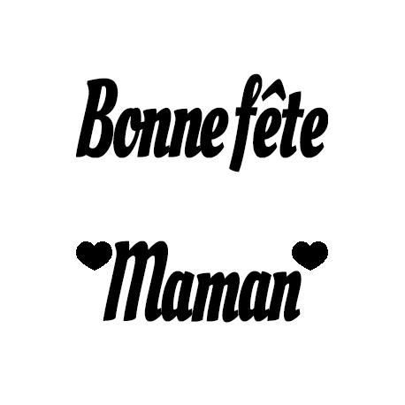 Pliage de livre Bonne fête Maman (2 lignes)