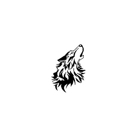 Pliage de livre tête de loup hurlant