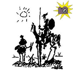 Pliage de livre tableau Don Quichotte de Pablo Picasso