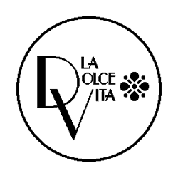 La Dolce Vita restaurant logo folded book