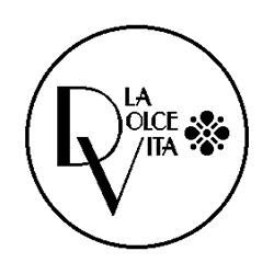 Pliage de livre logo restaurant La Dolce Vita