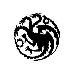 Game of Thrones - Targaryen logo folded book