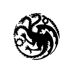 Pliage de livre Game of Thrones - blason Targaryen