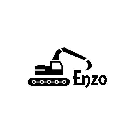 Pliage de livre Enzo décor tractopelle