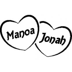 Pliage de livre Manoa - Jonah décor coeurs