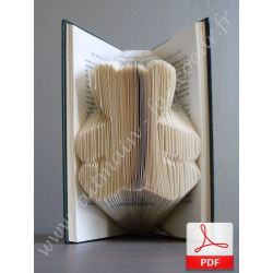 Teddy bear folded book