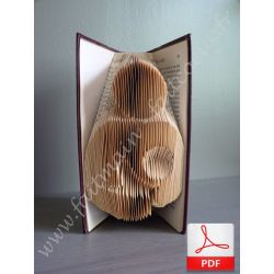 Maternal love folded book pattern