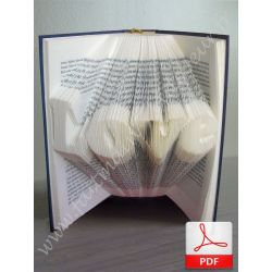 "Folded book pattern ""Love"""