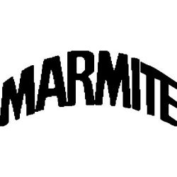 Marmite logo custom folded book pattern