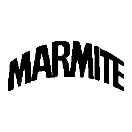 Marmite logo folded book pattern