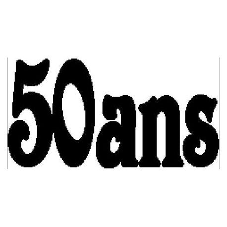 """Patron livre plié """"50 ans"""""""