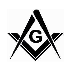 Custom folded book pattern masonic lodge logo