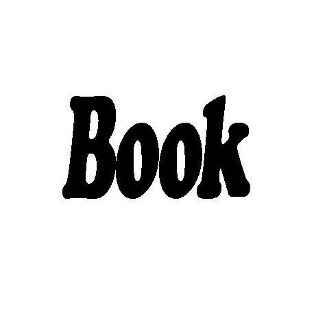 Patron livre plié mot Book