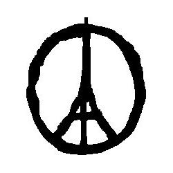 Patron livre plié sur mesure paix pour Paris