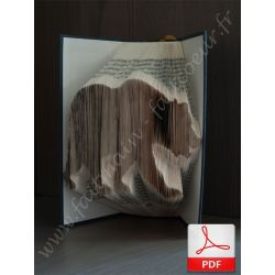 Folded book pattern walking bear