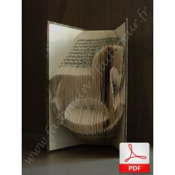Folded book pattern rocking horse