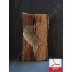 Folded book pattern nested hearts