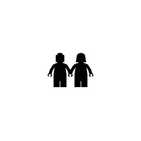 Custom folded book pattern Mr & Mrs Lego