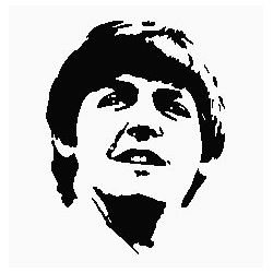 Pliage de livre portrait Paul McCartney