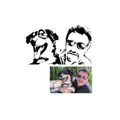 Découp'pliage portrait de 2 amis