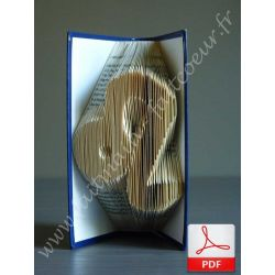 Folded book pattern leo sign
